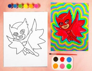 PJ MASKS PAINT SET