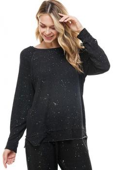 Women's Splatter Paint Long Sleeve Top