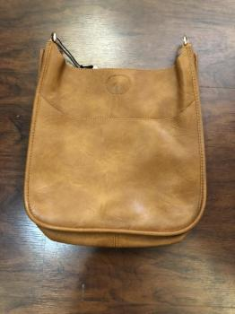 Large Vegan Leather Messenger Bag