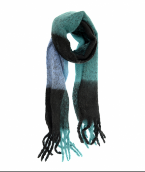 Speckled Colorblock Scarf - Turquoise