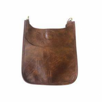 Mini Vegan Leather Messenger Bag
