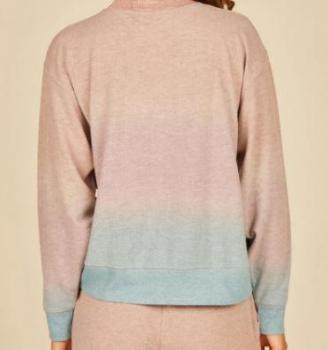 Grey/Peach/Lavender Ombre Hacci Crewneck