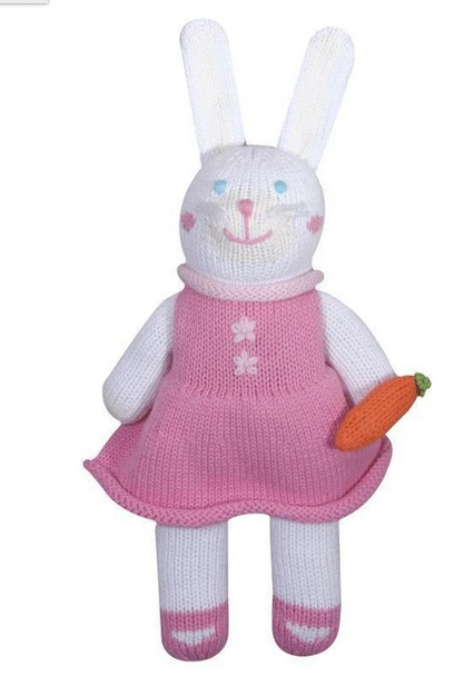 Zubel Pink Bunny Rattle/Toy