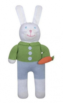 Zubels Boy Bunny Rattle/Toy