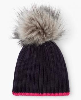 Hatley Navy Pom Pom Hat