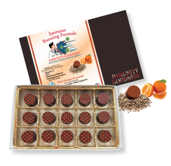 Immunity Goodness Premium Belgian Chocolate - 15 Piece Box - Available in 4 Flavors