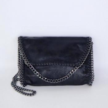Vegan Suede Chain Crossbody Bags