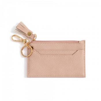 Faux Leather Cardholder With Keychain