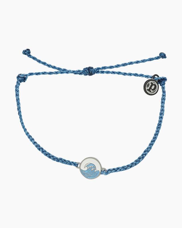 Pura Vida Make Waves Charm Denim Blue Bracelet