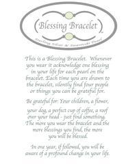 Blessing Bracelet - White Pearl with Gold Links