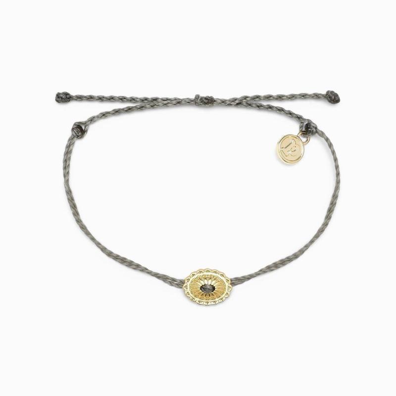 Pura Vida Boho Concho Charm Grey Bracelet