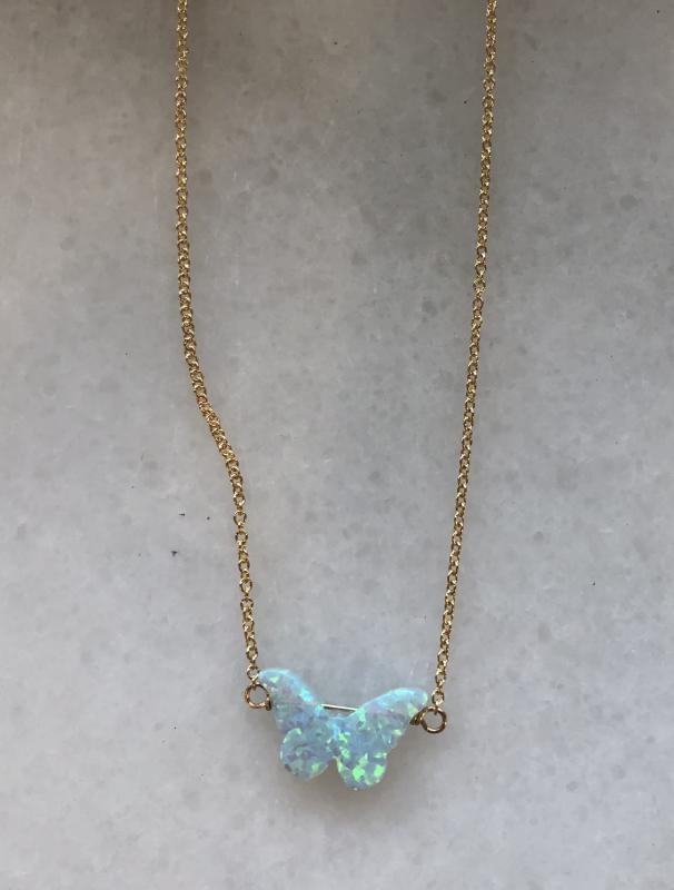 Butterfly Opal Necklace