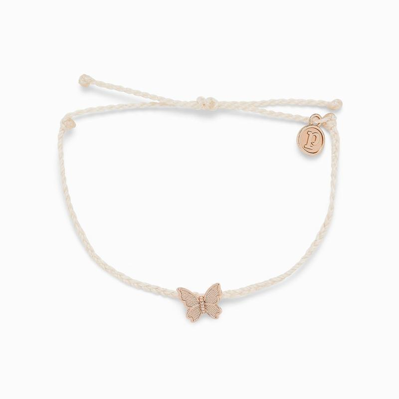 Pura Vida Butterfly in Flight Charm - Vanilla