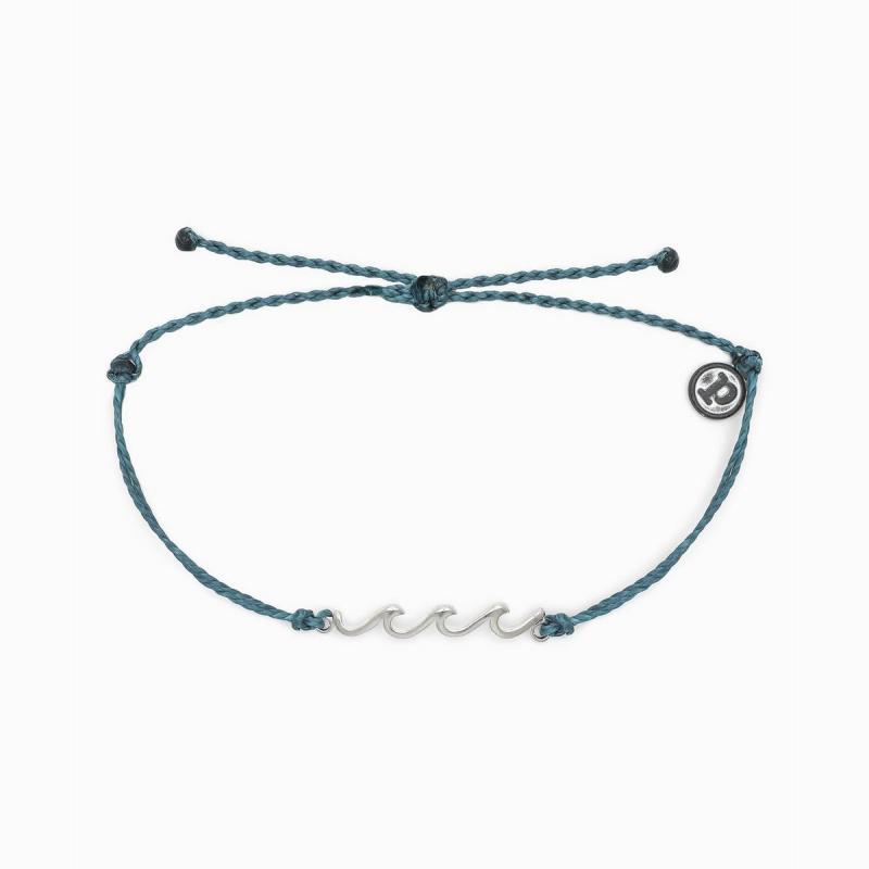 Pura Vida Delicate Wave Bracelet in Mediterranean Green