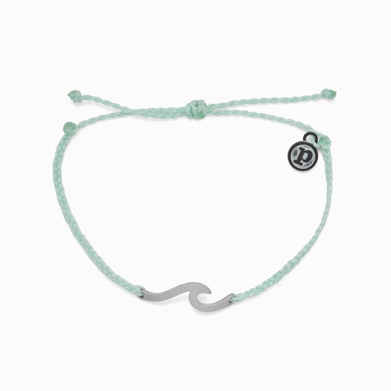 Pura Vida Hammered Wave Winterfresh Charm Bracelet