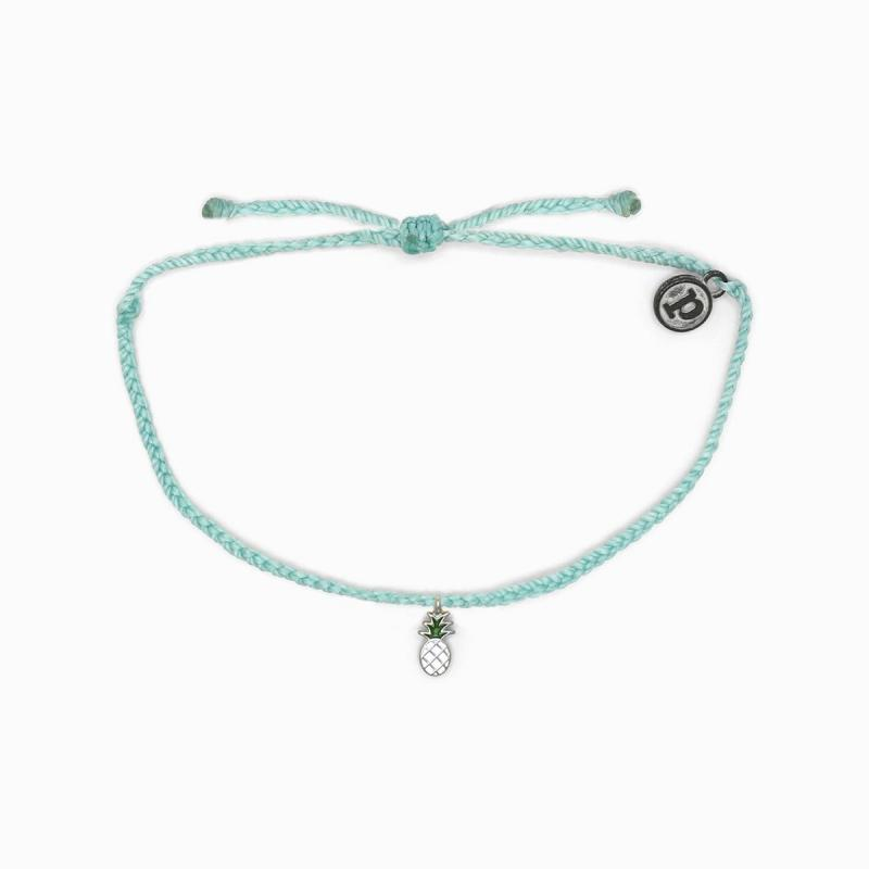 Pura Vida Pineapple Bitty Braid in Seafoam