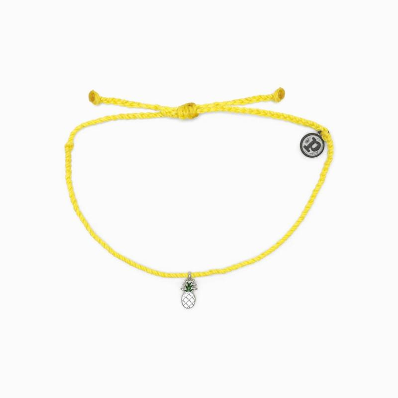 Pura Vida Pineapple Bitty Braid in Yellow