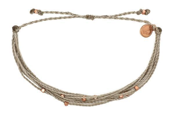Pura Vida Rose Gold Malibu Bracelet in Grey