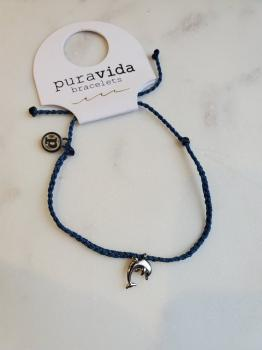 Pura Vida Dolphin Bitty Braid in Mediterranean Blue