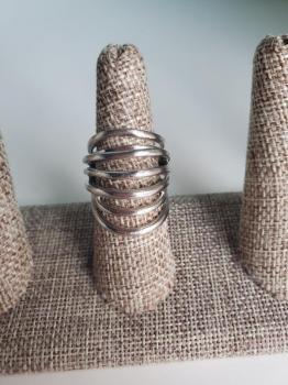 Sterling Silver Curved Ring