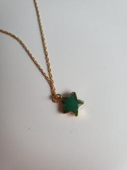 Green Onyx Star Necklace