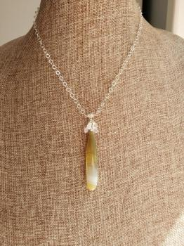 Kristen Ford - Striped Chalcedon Agate Necklace