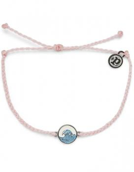 Pura Vida Make Waves Charm Baby Pink Bracelet