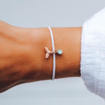Pura Vida Mermaid Fin Charm Bracelet in White