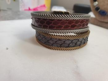 Cynthia Desser Brown/Grey Double Cuff