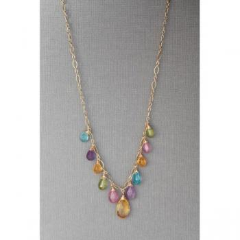 Kristen Ford - Multi Color Tropical Necklace