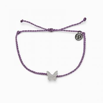 Pura Vida Butterfly in Flight Charm - Light Purple