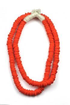 Cristina V. Trade Bead -Matte Orange