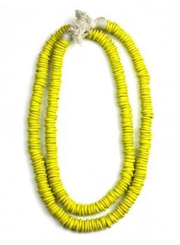 Cristina V. Trade Beads - Neon Yellow
