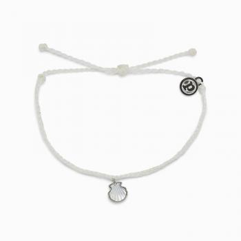 Pura Vida Real Shell White Charm Bracelet