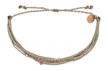 Pura Vida Rose Gold Malibu Bracelet in Grey