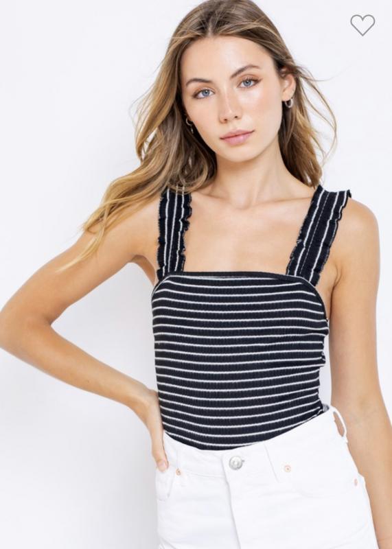 Ruffle Stripe Bodysuit