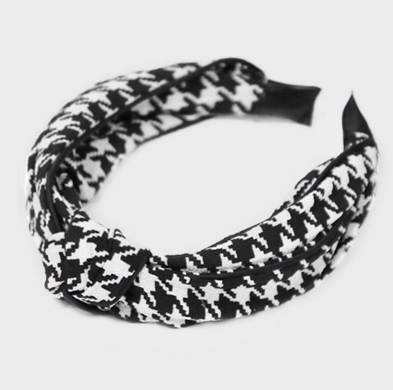 Checkered Twist Headband
