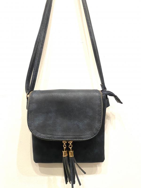 fringe zipper cross body bag