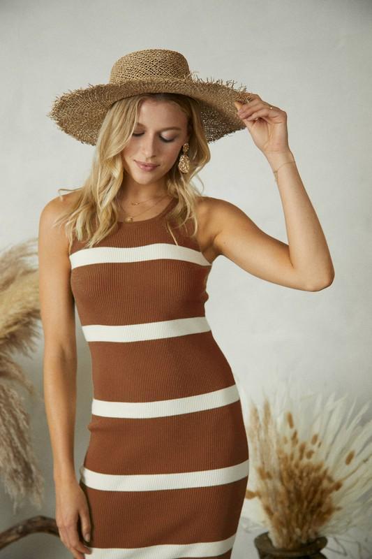 Stripe Sweater Tank Dress