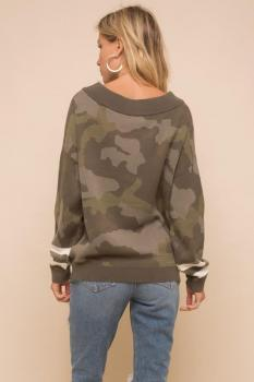 Camo Oversized Sweater