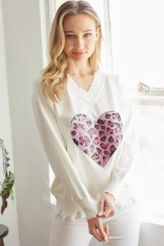 Sequenced Heart Sweater