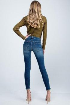 Distressed Bottom Jeans