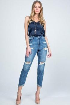 Hi-Rise Boyfriend Jeans