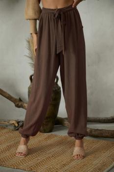 Linen Tie Front Pants