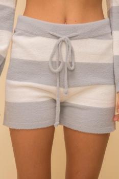 Stripe Sweater Shorts