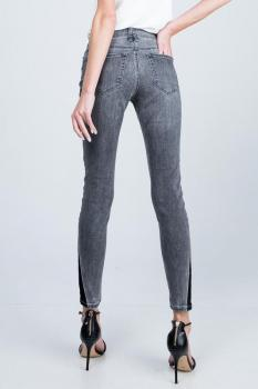 Mid-Rise 2 Tone Jeans
