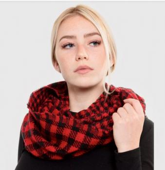 Buffalo plaid infinity scarf
