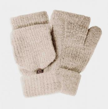 Faux Fur Pop-Pop Mittens Gloves