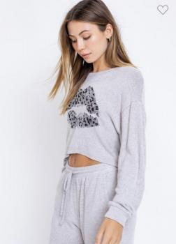 Grey Leopard Kiss Shirt