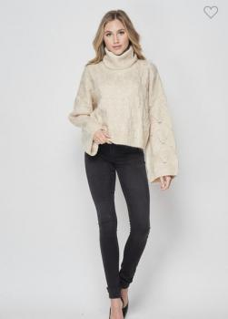 Cozy Knit Turtle Sweater